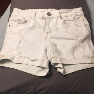 So Light Wash Slightly Destroyed Jean Shorts